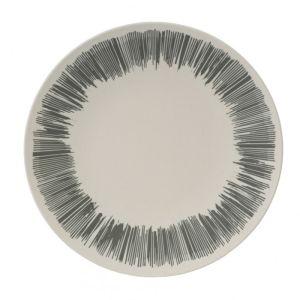 Vango Bamboo Dinner Plate - Grey Stripe