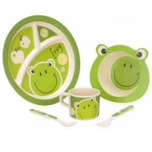 Vango Bamboo Kids Dining Set - Frog