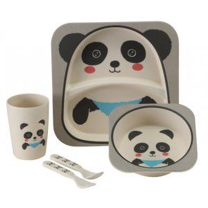 Vango Bamboo Kids Dining Set - Panda