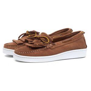 Barbour Klara Boat Shoes - Cognac