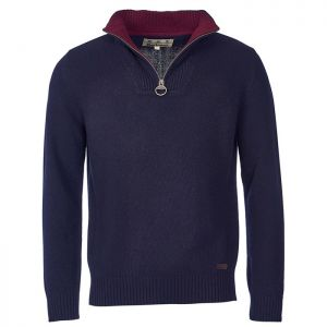 Barbour Nelson Essential Half Zip Jumper - Navy