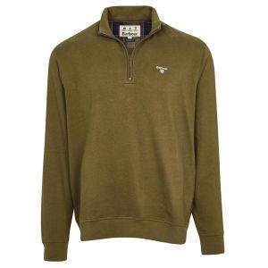 Barbour Men's Bankside Half Zip Sweatshirt – Dark Olive