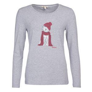 Barbour Women's Fareham Long Sleeve T-Shirt – Light Grey Marl