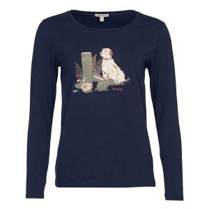 Barbour Women's Hedley Long Sleeve T-Shirt – Navy