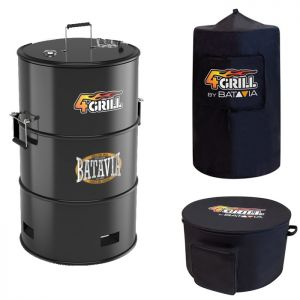 Batavia 4Grill Charcoal Barbecue with Free Cover & Carry Case