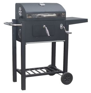 Flame Master Smoker Deluxe Charcoal Grill Barbecue