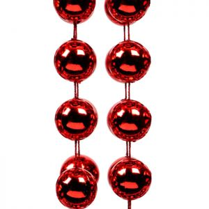Beaded Garland, 10m - Red