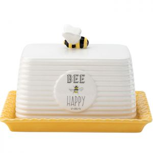 The English Tableware Company Bee Happy Butter Dish