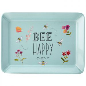 The English Tableware Company Bee Happy Scatter Tray - Blue