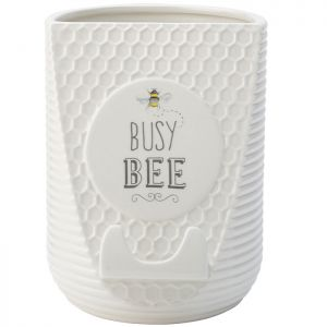 The English Tableware Company Bee Happy Utensil Pot & Cookbook/Tablet Stand