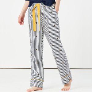 Joules Women's Luna Pyjama Bottoms – Navy Cream Bee