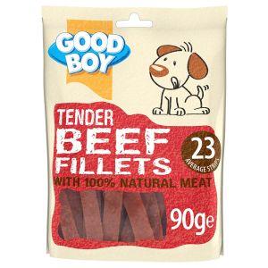 Good Boy Tender Beef Fillets - 10 Pack