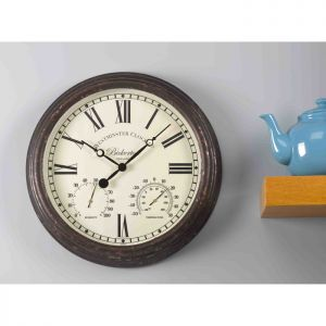 Smart Garden Outside In Bickerton Wall Clock and Thermometer