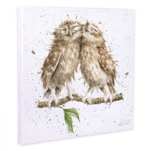 Wrendale Designs 'Birds of a Feather' Canvas - 20cm