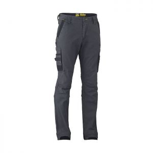Bisley Workwear Men's Flex & Move Stretch Utility Cargo Trousers – Charcoal