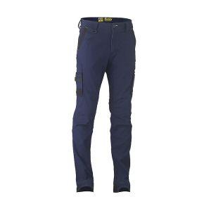 Bisley Workwear Men's Flex & Move Stretch Utility Cargo Trousers – Navy