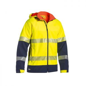 Bisley Workwear Men's Taped Two Tone Hi-Vis Softshell Jacket – Yellow