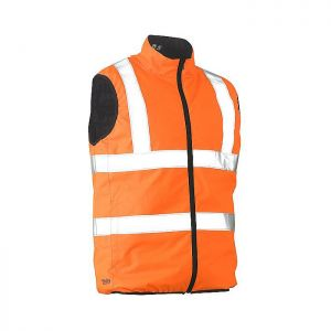 Bisley Workwear Men's Taped Hi-Vis Reversible Gilet – Orange