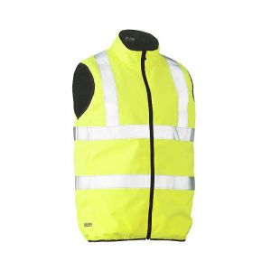 Bisley Workwear Men's Taped Hi-Vis Reversible Gilet – Yellow