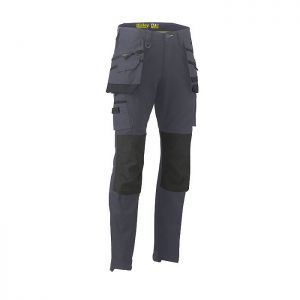 Bisley Workwear Men's Flex & Move Stretch Utility Cargo Trousers with Holster Pockets – Charcoal