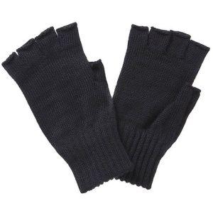 Barbour Fingerless Gloves - Black