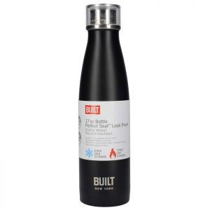 Built Double Walled Stainless-Steel Water Bottle, 480ml – Black