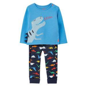 Joules Baby Byron Cotton Jersey Set – Blue Dinosaur