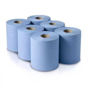 Blue Paper Roll - 6 Pack