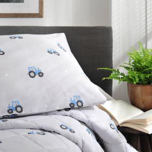 Deyong Blue Tractor Duvet Set, Grey
