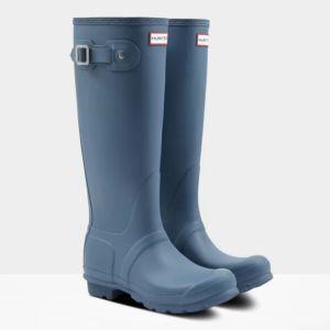 Hunter Women's Original Tall Wellington Boots - Gill Wave Blue