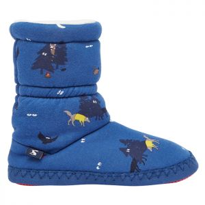 Joules Children's Padabout Slippers – Blue Woods