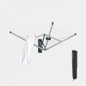 Brabantia 24m Wallfix Wall Mounted Airer With Cover