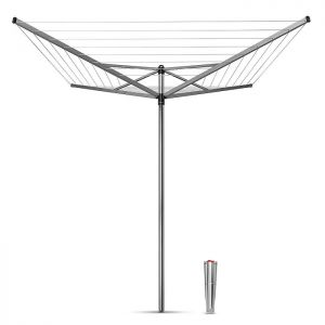 Brabantia 40m 4 Arm Topspinner Rotary Airer With Ground Spike