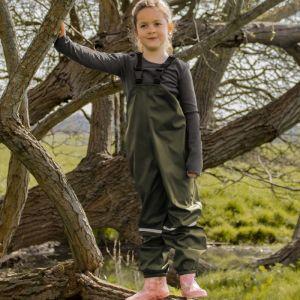 Fort Workwear Children's 583 Splashflex Bib 'N' Brace – Green