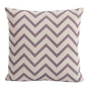 Bramblecrest Square Scatter Cushion - Chevron Cocoa