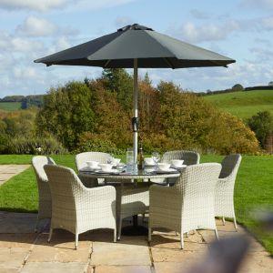 Bramblecrest Tetbury 6 Seater Round Dining Set