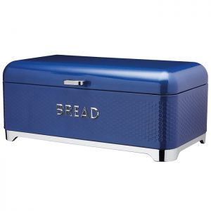 KitchenCraft Lovello Textured Bread Bin – Midnight Blue