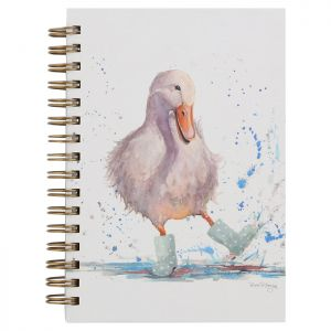 Bree Merryn A5 Spiral Notebook – Dierdre the Duck