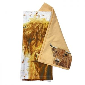 Bree Merryn Tea Towel – Bonnie the Highland Cow