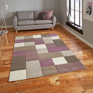 Brooklyn 646 Rug, Beige/Purple - 120cm x 170cm
