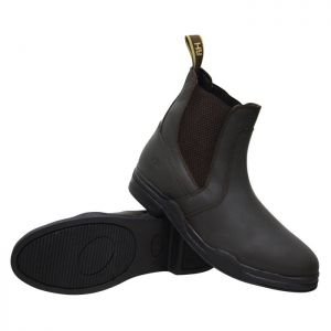 HyLand Wax Leather Jodhpur Boots - Brown