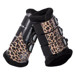 Weatherbeeta Prime Brushing Boots - Brown Leopard