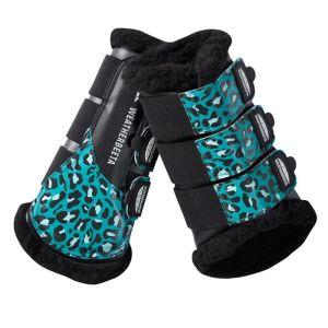 Weatherbeeta Prime Brushing Boots - Turquoise Leopard
