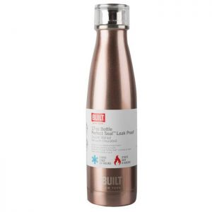 Built Double Walled Stainless-Steel Water Bottle - Rose Gold, 480ml