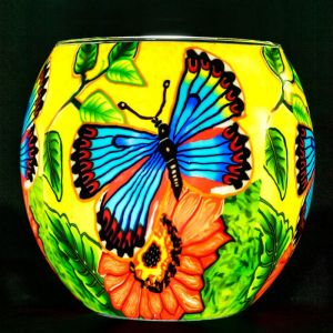 Benaya Art Ceramics Butterfly Beauty Tealight Holder