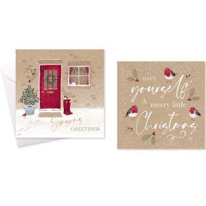 Seasons Greetings Christmas Cards – Pack of 10