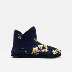 Joules Women's Cabin Slippers – Navy Floral