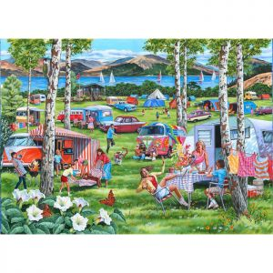 House Of Puzzles Big 500 The Harrow Collection MC540 Camping Chaos Jigsaw Puzzle - 500 Piece