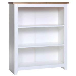 Keswick Waxed Pine Low Bookcase