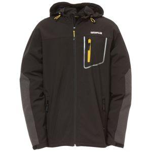 CAT Men's Capstone Hooded Soft Shell Jacket - Black